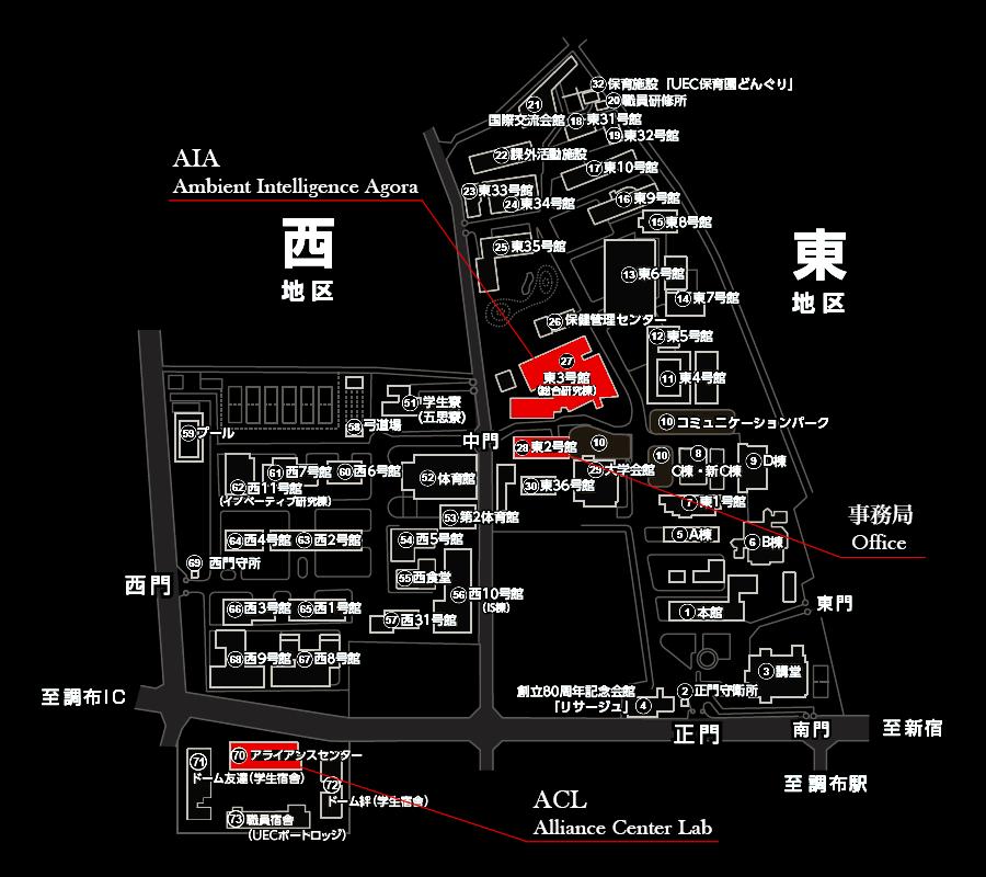 人工知能先端研究センター 地図